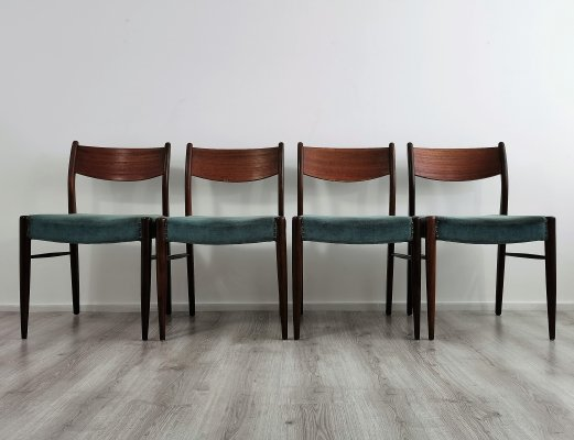 Set of 4 Mid-Century Modern Teak Dining Chairs, 1960s