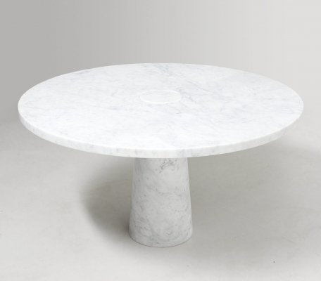White 'Eros' Dining Table by Angelo Mangiarotti for Skipper, Italy 1970's