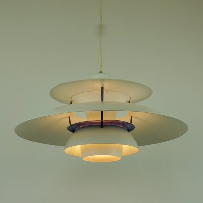 White PH5 Pendant by Poul Henningsen for Louis Poulsen, Denmark 1960s