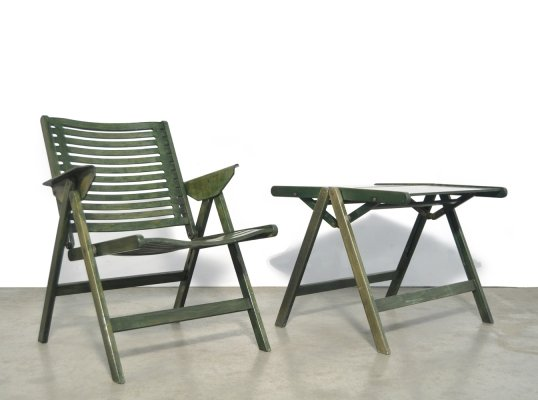 Vintage 'REX' lounge chair & coffee table by Niko Kralj for Stol, Slovenia 1950s