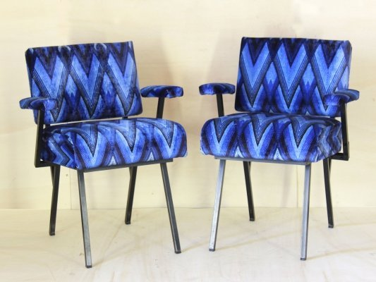 Pair of Midcentury multicolor armchairs, 1970s