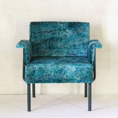 1970s vintage green armchair