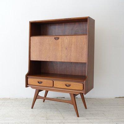 Teak bar / secretary by Louis van Teeffelen for Wébé, 1960s
