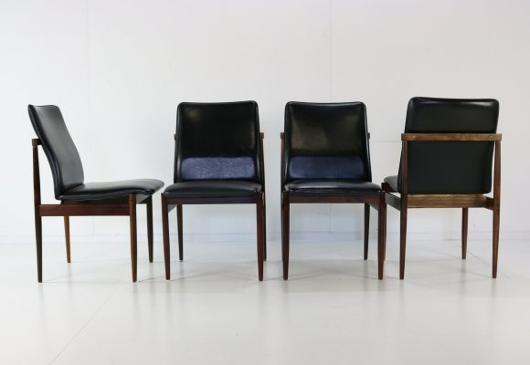 Set of 4 Thereca dining chairs, 1960s