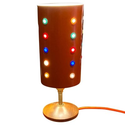Retro 1960's lamp with metal shade