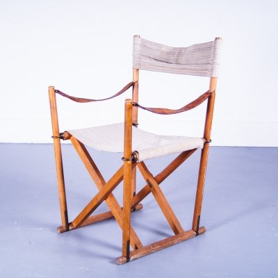 Folding safari chair by Mogens Koch for Interna Denmark, 1960s