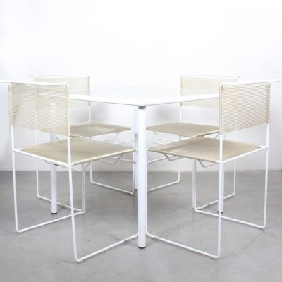 Spaghetti dining set by Giandomenico Belotti for Fly Line Italy, 1980s