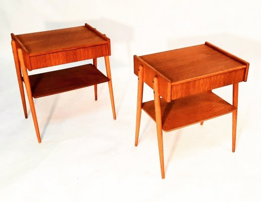 Pair of Carlström & Co Möbelfabrik side tables, 1950s