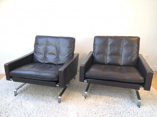 Pair of Poul Kjaerholm PK-31 Lounge chairs by E.Kold Christensen, 1970's