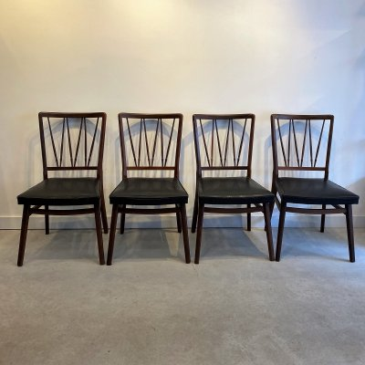 Set of 4 A. Patijn dining chairs, 1960s