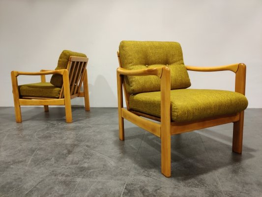 Pair of Mid century 'Stella' armchairs by Walter Knoll, 1960s