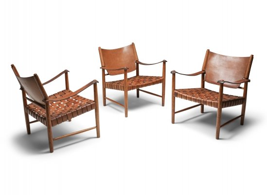 3 x lounge chair by Arne Norell for Norell Möbel AB, 1960s