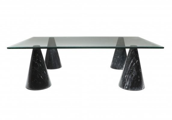 Marble & Glass Coffee Table, 1970s