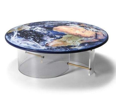 Globe Coffee Table with Plexi Base, 1990s