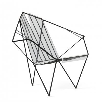 Metal & Perspex Chair, 1970s
