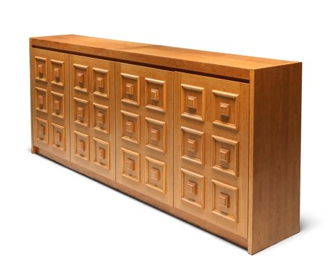 De Coene Brutalist credenza in natural oak, 1970's