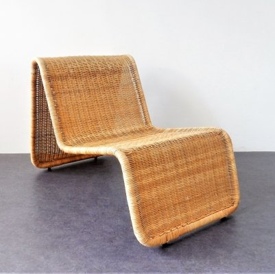 Wicker lounge chair for Ikea, 1960's