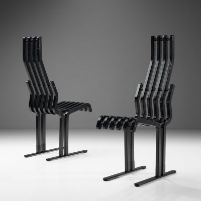 Pair of 'Scheletro' Chairs by Kari Asikainen for P. O. Korhonen Oy, Finland 1987