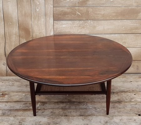 Round Vintage Table in rosewood, 1960s