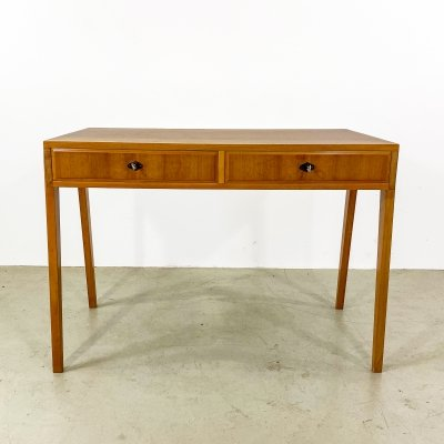 Mid-century scandinavian design writing desk with 2 drawers, 1970s