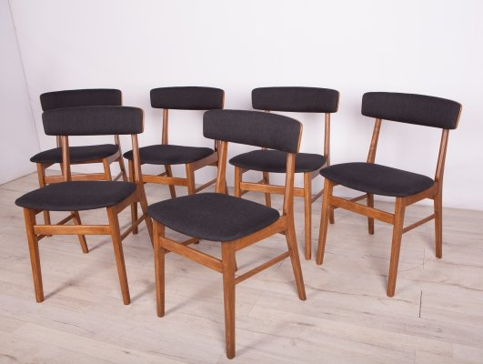 Set of 6 Mid-Century Dining Chairs from Farstrup Møbler, 1960s