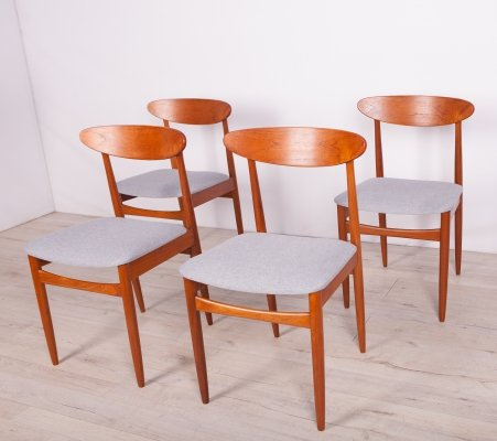 Set of 4 Mid-Century British Teak Dining Chairs, 1960s