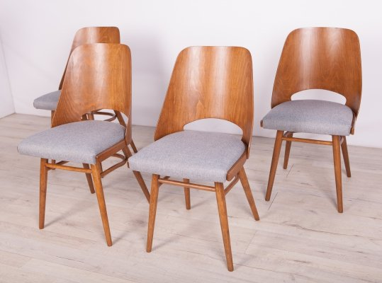 Set of 4 Model Lollipop Dining Chairs from Tatra, 1960s