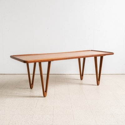 Danish coffee table with V-legs, 1960s