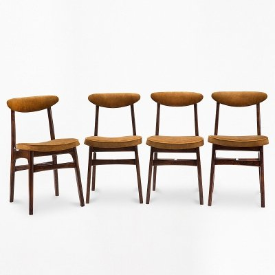 Set of 4 type 200-190 chairs by R. T. Hałas, 1960s