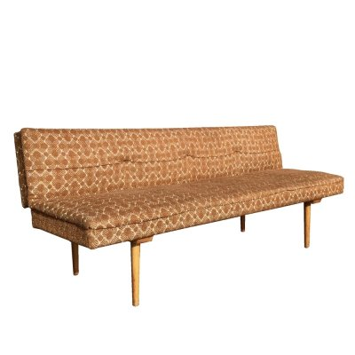 Mid Century daybed by Miroslav Navrátil in original beige fabric, 1960s