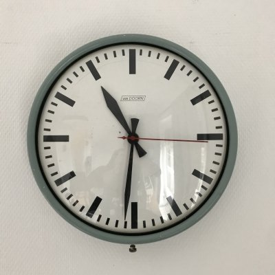 Vintage industrial design School clock by Van Doorn, 1970s