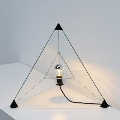 Tetrahedron table lamp by Frans van Nieuwenborg for Indoor, 1979