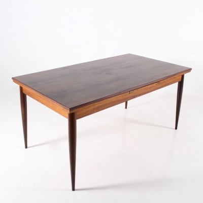 Rosewood extendable 'Paola' table by Oswald Vermaercke for V-form, 1950's