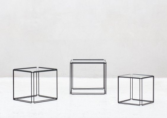 Set of 'Isocele' nesting tables by Max Sauze, France 1970