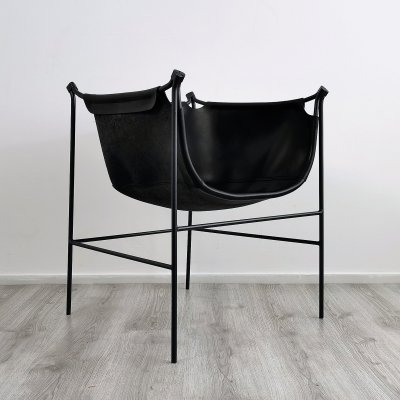Postmodern Leather Easy Chair, 1990's