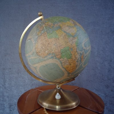 Globe with Internal Lighting from Perrina, Paris France 1940s
