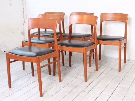 Set of 6 Dining Chairs by Henning Kjaernulf for Korup, 1960s