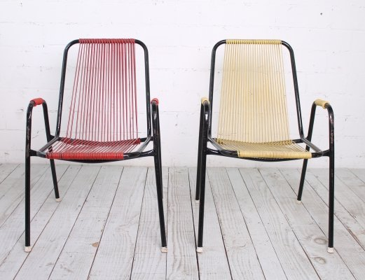 Set of 2 Vintage Spaghetti Chairs, 1960s