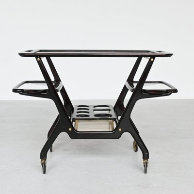 Cecare Lacca bar cart / serving trolly by Cassina, Italy 1950
