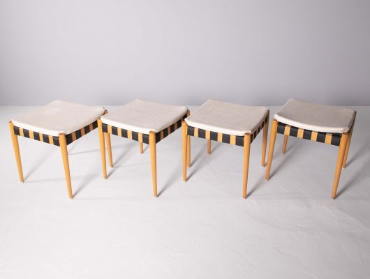 Egon Eierman four stools 'SE 120' for Wilde & Spieth, Esslingen 1960s