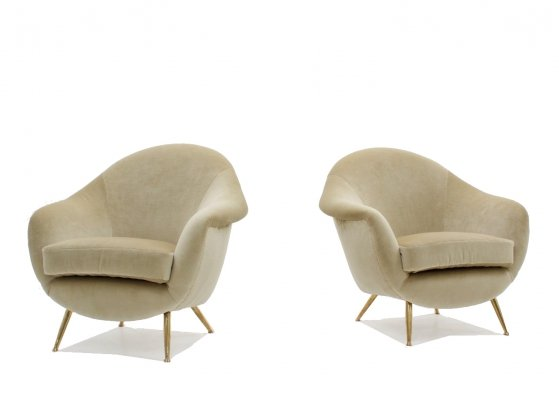 Pair of Guglielmo Veronesi armchairs 1950s