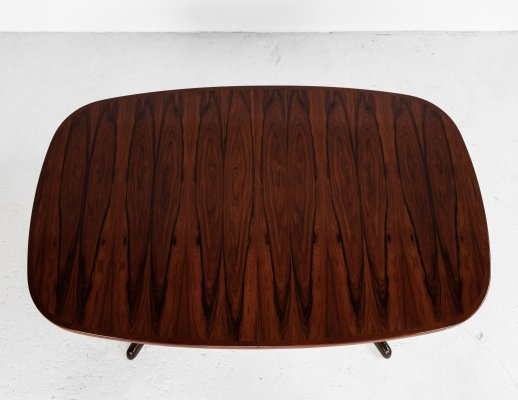 Midcentury Danish oval dining table in rosewood by Gudme, 1960s