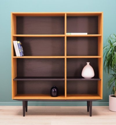 Danish design Bookcase in ash by Domino Møbler Denmark, 1970s