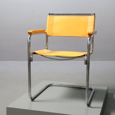Model S 34 Chair with Armrests by Mart Stam for Thonet, 1980s