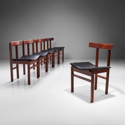 Set of 6 'Model 193' dining chairs by Inger Klingenberg for France & Søn, Denmark 1960s