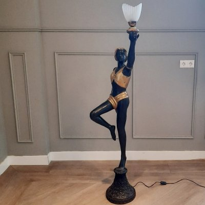 Brass Art Deco Floor Lamp, 1920s