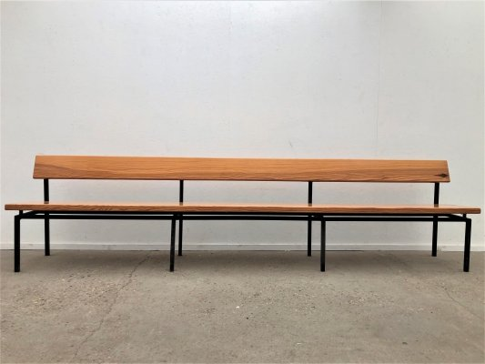 Vintage pine pew / church bench, 1980s