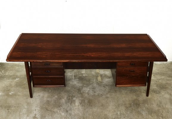 Model 207 Brazilian rosewood desk by Arne Vodder for Sibast, DK 1960s