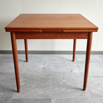 Compact Teak Dining Table, Denmark 1960's