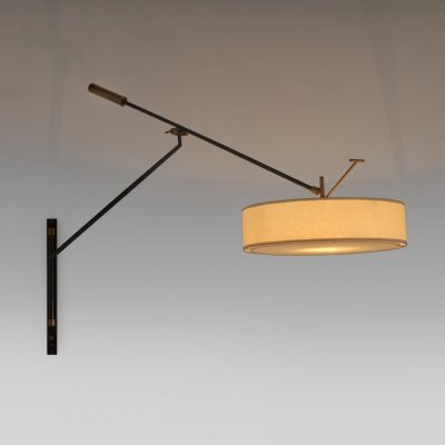 Large Adjustable Wall lamp by Arlus, France 1950's